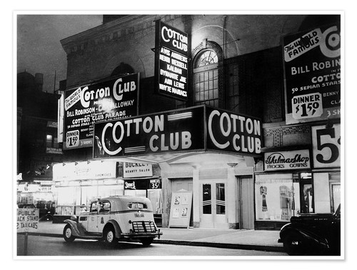 Premium poster Cotton Club in Harlem, New York