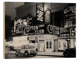 Wood print  Cotton Club in Harlem, New York