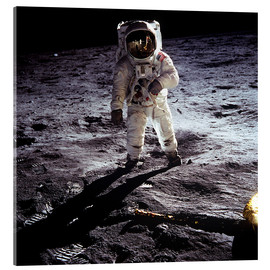 Acrylic print  1st steps of human on Moon