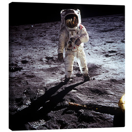 Canvas  1st steps of human on Moon