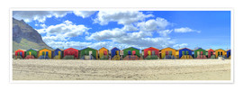 Premium poster  Colorful beach houses in Muizenberg - HADYPHOTO by Hady Khandani
