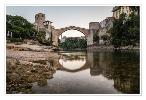 Premium poster Stari Most Bosnia in the morning
