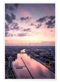 Premium poster  Berlin skyline TV tower - Filtergrafia