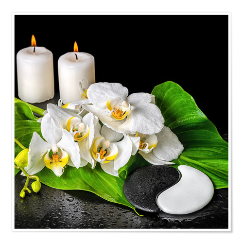Premium poster Spa Concept with Candles and Orchids