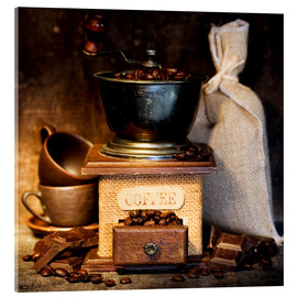 Acrylic print  Antique coffee grinder
