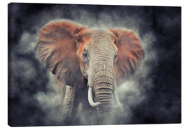Canvas  Elephant in National Park of Kenya