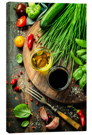 Canvas  Healthy bio vegetables and spices