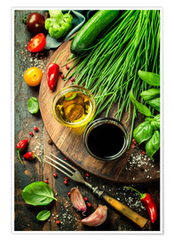 Poster  Healthy Bio Vegetables and spices