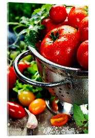 Acrylic print  Tomatoes in the sieve