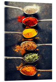 Acrylic glass  Spices Mix