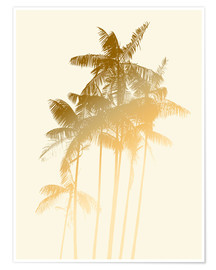 Premium poster Golden palm trees