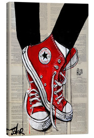 Canvas  Red converse - Loui Jover