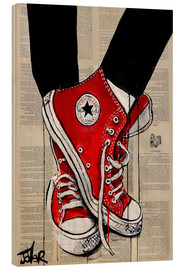 Wood print  Red converse - Loui Jover