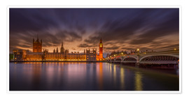 Premium poster  London sunset - Elena Papadopolis