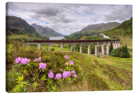 Canvas print  Glenfinnan Viaduct in Scotland with Jacobite Steam Train - Michael Valjak