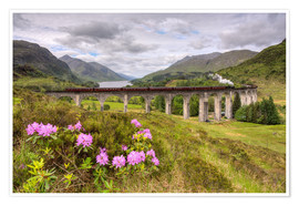 Premium poster  Glenfinnan Viaduct in Scotland with Jacobite Steam Train - Michael Valjak