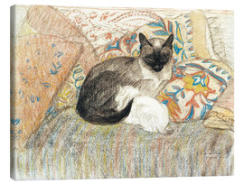 Canvas print  Siamese Cat and her kitten - Théophile-Alexandre Steinlen