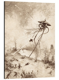 Henrique Alvim Correa - Martian Fighting Machine Hit by Shell