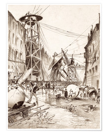 Premium poster  Humans Dissecting Martian War Machines - Henrique Alvim Correa