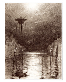 Premium poster  Martian Machine Over the Thames - Henrique Alvim Correa