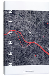 Canvas print  City of Berlin Map midnight - campus graphics