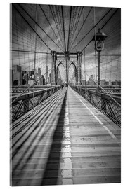 Acrylic print  Brooklyn Bridge, New York City - Melanie Viola