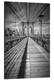 Aluminium print  Brooklyn Bridge, New York City - Melanie Viola