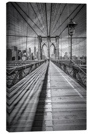 Canvas print  Brooklyn Bridge, New York City - Melanie Viola