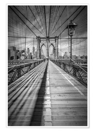 Premium poster  Brooklyn Bridge, New York City - Melanie Viola