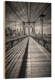 Wood print  Brooklyn Bridge, New York City - Melanie Viola