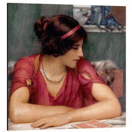 Aluminium print  The Letter - John William Godward