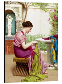Aluminium print  A stitch in time - John William Godward