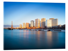 Acrylic print  Its banks in Paris with skyline and Eiffel Tower - Jan Christopher Becke
