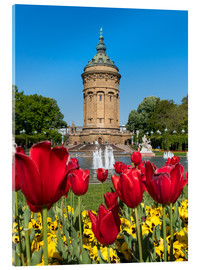 Acrylic print  Mannheim water tower in spring - Jan Christopher Becke