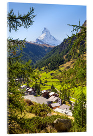 Jan Christopher Becke - View of Zermatt and the Matterhorn, Swiss Alps, Switzerland