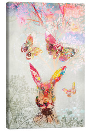 Canvas print  Butterflies and Hare - Ella Tjader