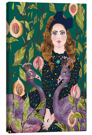 Canvas print  Portrait with peacocks - Ella Tjader