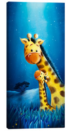 Canvas print  Giraffe mother with child - Stefan Lohr