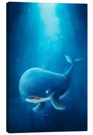 Canvas print  Cute whale - Stefan Lohr