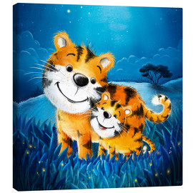 Canvas print  Cute tigers - Stefan Lohr