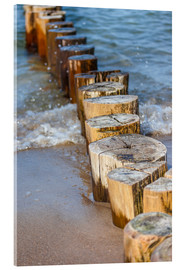 Acrylic glass  Groynes on the German Baltic Sea beach - Christian Müringer