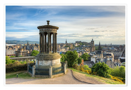 Premium poster  Edinburgh view from Calton Hill - Michael Valjak