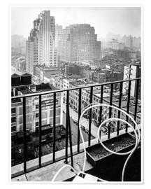Premium poster  New York: View from penthouse, 56 Seventh Avenue, Manhattan - Christian Müringer