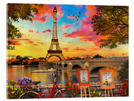 Acrylic print  Paris Sunset - Dominic Davison