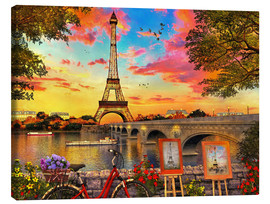 Canvas print  Paris Sunset - Dominic Davison
