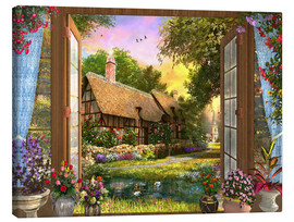Canvas print  Cottage View Sunset - Dominic Davison