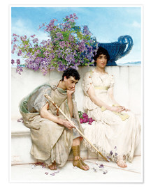 Premium poster  An Eloquent Silence - Lawrence Alma-Tadema