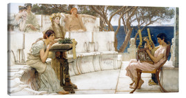 Canvas print  Sappho and Alcaeus - Lawrence Alma-Tadema