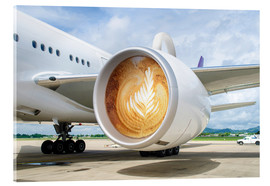 Acrylic print  Latte Departure - James Popsys