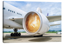 Canvas print  Latte Departure - James Popsys